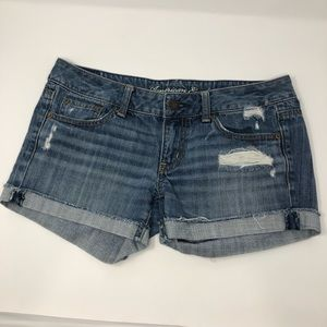 American Eagle Distressed Jean Shorts Size 6